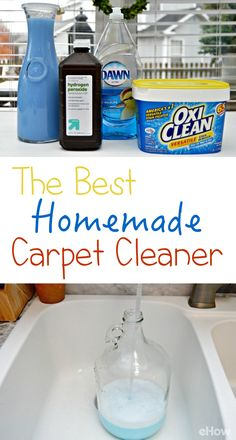 The Best Homemade Carpet Cleaner Recipes, DIY and Crafts, The BEST DIY carpet cleaner! Carpet cleaning solution can be expensive and sometimes leaves an unpleasant smell.
