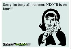 Sorry I'm busy all summer, NKOTB is on tour!!
