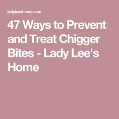 Prevent Chiggers Dawn Remedies And Bug Bite Treatment