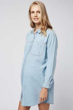 MATERNITY Denim Shirt Dress - Topshop