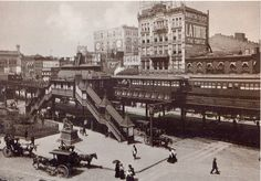 postcard - old new york - 1898 - greeley square - seen from broadway and 34th st by sonobugiardo, via Flickr