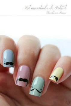 @M R. Kate look, MUSTACHE NAILS!!! just add beauty marks and they're perfect! <3