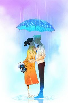 Portal 2 themed couple. Chell and Wheatly as a human. ^-^