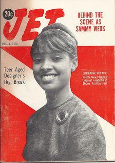 DEC 1 1960 JET MAGAZINE VOL.19 #6 (Lorraine Bettis) Jet Magazine, Black Magazine, Vintage Magazines, Lorraine, Magazine Covers, Vintage Black, Behind The Scenes, Teen, Movie Posters