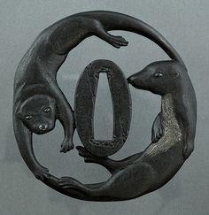 tsuba - hand guard on Japanese sword