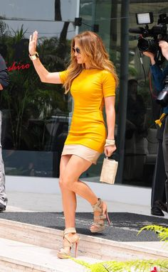 Jennifer Lopez great legs in sexy Louboutin high heel sandals