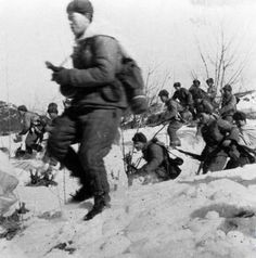 Chinese foot soldiers in the first winter of Korean War 1950-1951 .. .