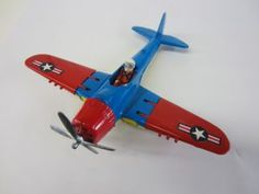 """This week our """"Pick"""" is just in to the shop in Williamston, a Hubley 495 Navy fighter plane. Landing Gear, Folded Up, Spinning, Plane, Pilot, Wings, Navy, Cool Stuff, Shop"""