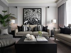 Grey luxe living room.
