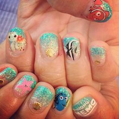 17 Of Your Favourite Disney Characters As Nail Art | The Nail Room