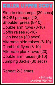 this one looks tough! Killer upper body workout from Cherierunsthis #fitfluential