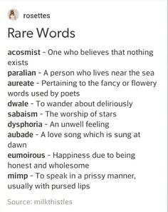 Rare Words to Use Writing Tools Book Writing Tips, English Writing Skills, Writing Words, Writing Help, Writing Prompts, Writing Ideas, Writing Poetry, Essay Writing, Sentence Prompts