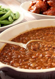 Root Beer Baked Beans from @CreativCulinary #SummerSoiree #FoodNetwork