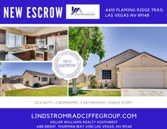 CONGRATULATIONS to our Sellers 4410 Flaming Ridge Trail in Las Vegas, NV 89147 is #INESCROW Grateful for the Multiple Offers and acceptance of a Full List Price Offer! How can we help you or someone dear to you with their real estate needs? Contact us today. #LivinLRG #LindstromRadcliffeGroup #LasVegasRealEstate #Realtor #KW #KellerWilliamsRealty