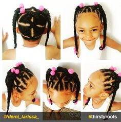 African American child hairstyle  Kinks  Coils for Babies  Kids