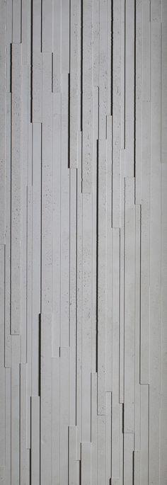 PANBETON® SLATS - Designer Concrete panels from Concrete LCDA ✓ all information ✓ high-resolution images ✓ CADs ✓ catalogues ✓ contact. Concrete Cladding, Concrete Wall Panels, Concrete Wall Texture, Concrete Paving, Concrete Forms, Concrete Walls, Wall Exterior, Building Exterior, Exterior Siding