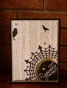 "Halloween is around the corner and today I want to show you the beautiful card I made using the NEW stamp set from the Holiday Catalog 2015 – Stampin' Up! ""AMONG THE BRANCHES&#822…"
