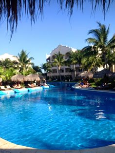 One of may pools at #ExcellenceRivieraCancún Photo by Julie Kovar #FF #AllInclusiveLuxury