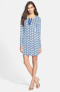 Diane von Furstenberg 'Reina' Print Silk Shift Dress available at #Nordstrom