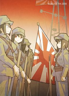Anime Military, Military Girl, Comic Pictures, Manga Pictures, Ww Girl, Guerra Anime, Gender Bender Anime, Anime Uniform, Anime Artwork