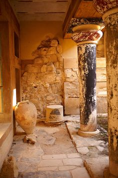 Knossos Minoan Palace archaeological site, Crete, Greece
