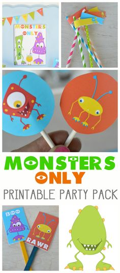 Monsters Only FREE printable pack. Download all the little details you'll need for your next party