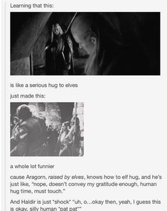 Actually what Thranduil and Legolas are doing is an elvish gesture of hello and goodbye Aragorn, Legolas, Geek Culture, Culture Shock, Stupid Human, Human Human, Poster Print, O Hobbit, Into The West