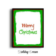 ON SALE   Merry Christmas Print Christmas by HolidayDream on Etsy