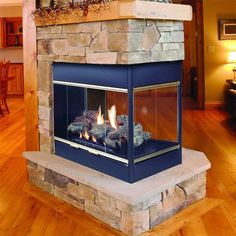Vented gas fireplace - vent gas fireplaces provide more style options than wood burning fireplaces. You can go to a traditional fireplace with gas logs 3 Sided Fireplace, Fireplace Vent, Vented Gas Fireplace, Natural Gas Fireplace, Fireplace Inserts, Fireplace Design, Fireplace Ideas, Gas Fireplaces, Fireplace Glass