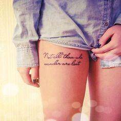 20 'WOW' Thigh Tattoos