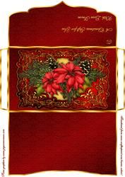 Christmas Poinsettia Money/gift Voucher Wallet