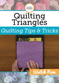 Machine quilting is a popular method for adding intricate quilting designs whether you are working on a small art quilt or making a king size quilt for a bed. Heather Thomas shows how quilting triangles and other angled designs can add energy and balance to a piece.