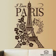 Vinilo decorativo I Love Paris