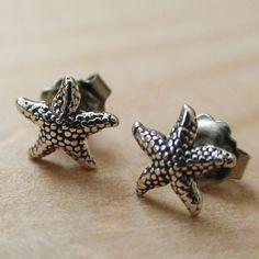 Starfish Earrings - Sterling Silver Post Earrings