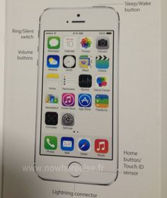 iphone 5s gold leak. leaked manual shows iphone 5s\u0027s home button/touch id sensor - http:// iphone 5s gold leak e