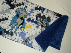 BATMAN BABY Blanket, Ready To Ship. Minky Baby Todder Security Blanket, Superhero Lovey,Travel Blanket