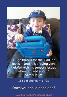 Sam's new iPad helps with his sensory issues Sensory Issues, Old Phone, Heart And Mind, New Ipad, Ipads, Thankful, App, Children, Gifts