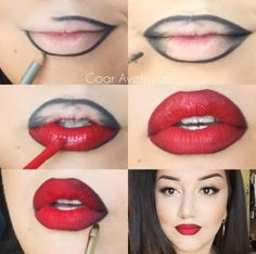 Bold red lipstick looks for brave girls Lipstick r .- Bold red lipstick looks for brave girls Bold red lipstick looks for brave girls Red Lipstick Looks, Red Lipstick Makeup, Perfect Lipstick, Contour Makeup, Red Lipsticks, Skin Makeup, Girls Lipstick, Lip Contouring, Makeup Eyebrows