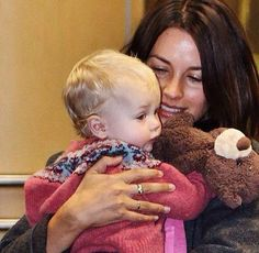 Wife Amelia Warner and daughter Dulcie.