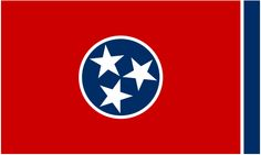"Illustration of the state flag of Tennessee. Source: Wikimedia Commons. Read more on the GenealogyBank blog: ""Tennessee Archives: 78 Newspapers for Genealogy Research."" http://blog.genealogybank.com/tennessee-archives-78-newspapers-for-genealogy-research.html"