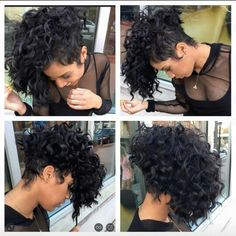 54 Ideas Hair Cuts Short Curly Natural Curls Afro For 2019 Curly Hair Cuts, Short Curly Hair, Short Hair Cuts, Curly Hair Styles, Natural Hair Styles, Natural Curls, Curly Girl, Edgy Haircuts, Shaved Hair