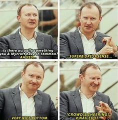AHAHA Mark Gatiss, everyone.