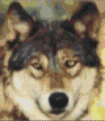 Wolf Lobo Amulet bag   Bead  Pattern by seesbeyond on Etsy, $7.00