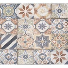 Tesoro Havana - Finca Mix Deco x Porcelain Tile Tuscan Style Bedrooms, Tuscan Style Homes, Best Floor Tiles, Kitchen Floor Tile Patterns, Patchwork Tiles, Italian Tiles, Spanish Tile, Portuguese Tiles, Ladders