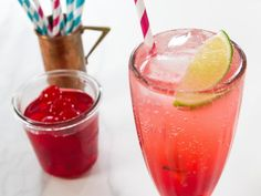Get Sparkling Cherry Lime Soda Recipe from Food Network