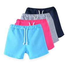 2016 new  candy color girls shorts hot summer boys beach pants shorts Kids trousers childrens pants 3722