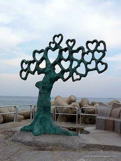 Tree of Love, Sokcho Beach in Korea