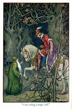 illustration by Helen Jacobs - from 'Paths in Storyland' by Stella Mead 'How Kay Became King'