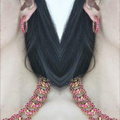 #ожерелье  #серьги #красное #RoseBrinelli #бижутерия #украшение