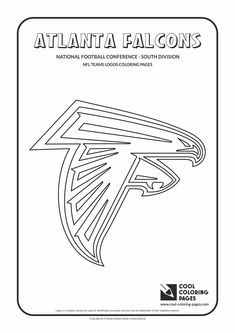cool coloring pages - nfl american football clubs logos - american ... - Football Coloring Pages Nfl Logos